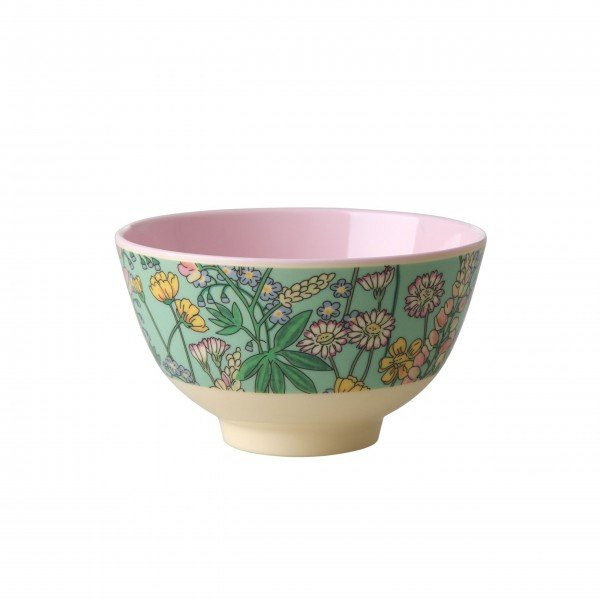 Farbenfrohe Melaminschüssel von Rice mit schickem Blumenprint