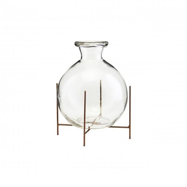 """Vase auf Stand """"Lana"""" - 12x10 cm (Glas/Metall) von House Doctor"""