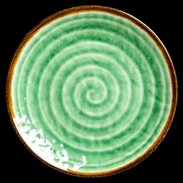 "rice Melamin Teller ""Swirl"" (Grün)"
