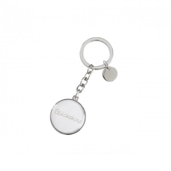 """Schlüsselanhänger Glückskind """"Cabochon""""(Silber) von Gift Company"""