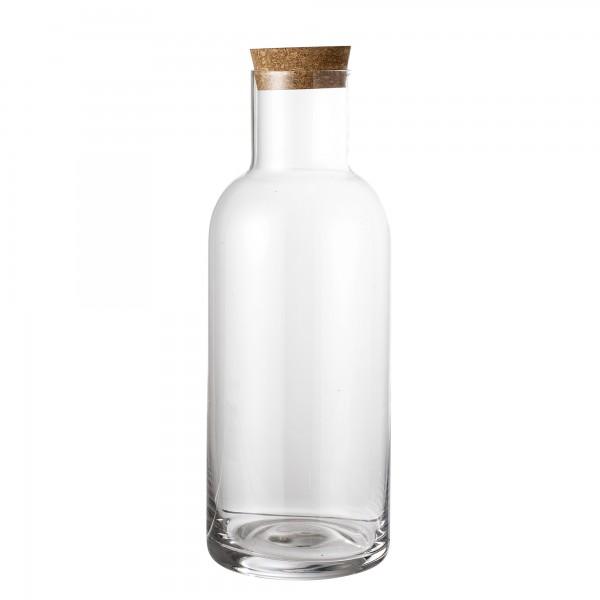 """Bloomingville Glasflasche mit Korkdeckel """"Ragna"""" (Klar)"""