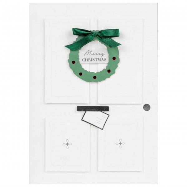 """Weihnachtskarte """"Merry christmas - Tür"""" von räder Design"""
