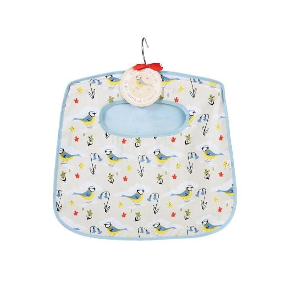 charmanter Helfer: Wäscheklammernbeutel mit Vogelprint