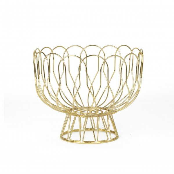 """Present Time Obstschale """"Wired"""" (Gold)"""
