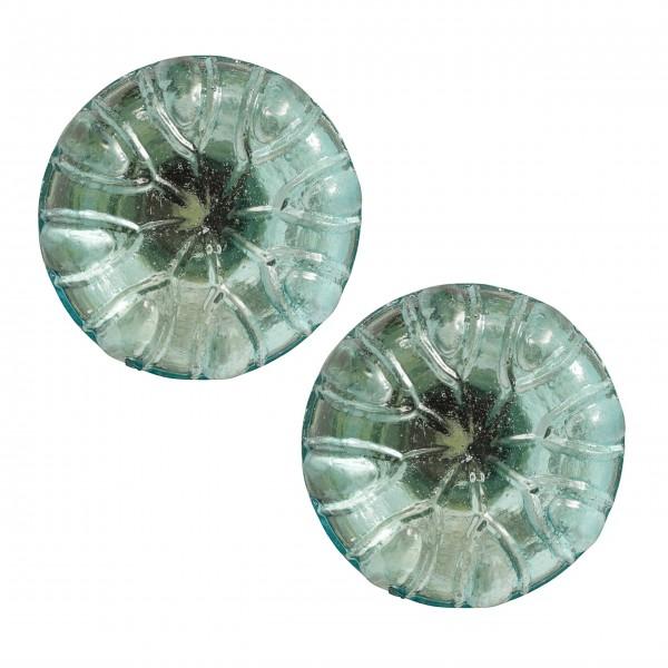 Türkisfarbener Glasknauf von Nordal - im 2er-Set
