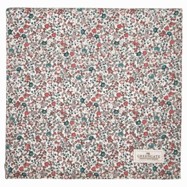 """Für einen blumigen Tisch - die GreenGate Tischdecke """"Miley"""" -150x150cm (White)"""