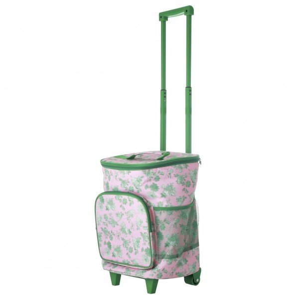 "Rice Trolley ""Green Rose"" - 22 L. (Pink/Grün)"