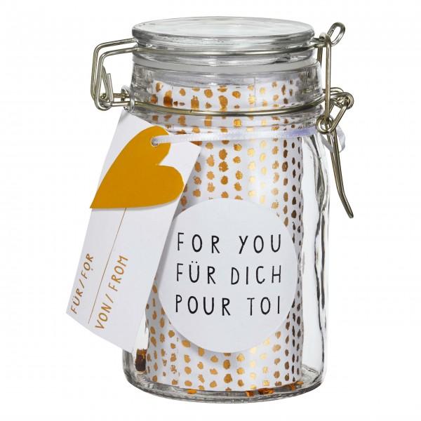 Geschenkglas für die liebevolle Botschaft: von räder