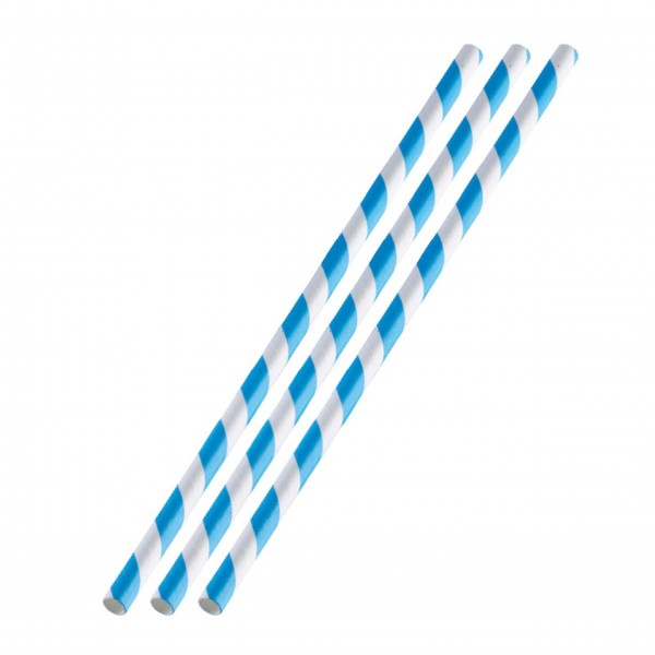 Westmark Trinkhalme aus Papier 36 Stück (Weiß/Blau)