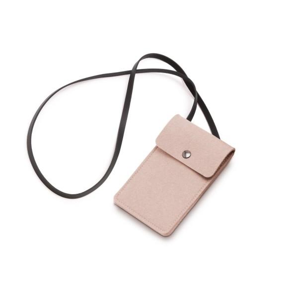 Filz-Handy-Tasche - 11x18 cm (Rosa/Powder) von HEY-SIGN
