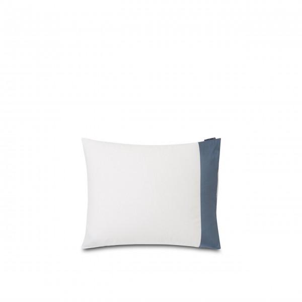 """Bettwäsche Kissenbezug - Baumwoll-Satin """"Streifen"""" - 80x80 cm (Blau/Weiß) von Lexington"""