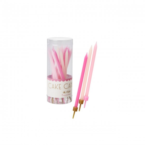 """Rice Kuchenkerzen """"Assorted Pink Colors"""" - 16 Stck.-2"""