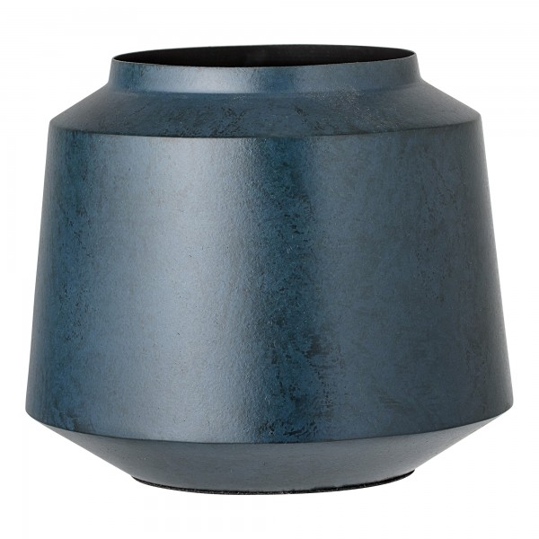 Bloomingville Kleine Vase aus Metall (Blau)