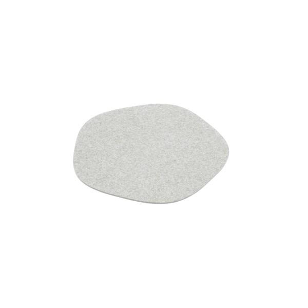 """Filz-Untersetzer """"Pebble"""" - 20 cm (Hellgrau/Marmor) von HEY-SIGN"""