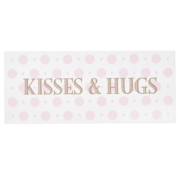 "Miss Étoile Metallschild ""Kisses & Hugs"""