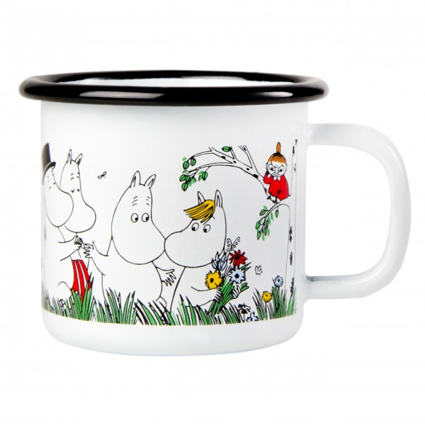"Kleiner Emaille Becher ""Mumin - Happy Family"""