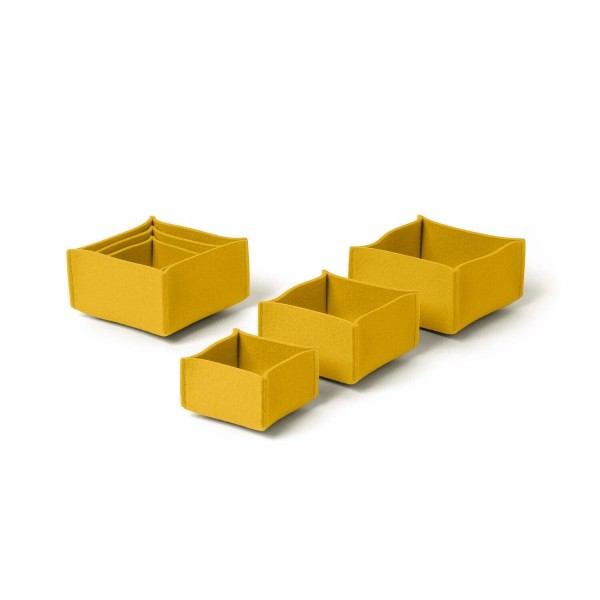 Filz-Box Set 1 - SML (Gelb/Curry) von HEY-SIGN