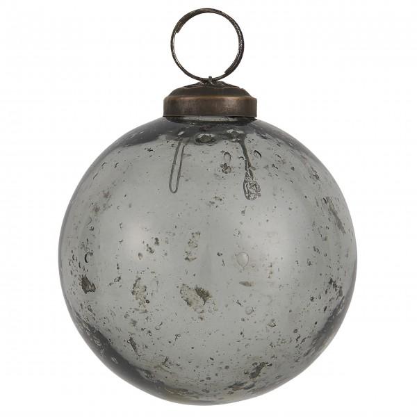 """Ib Laursen Weihnachtskugel """"Stillenat®"""" - Ø: 8,0 cm """"Smoke"""""""