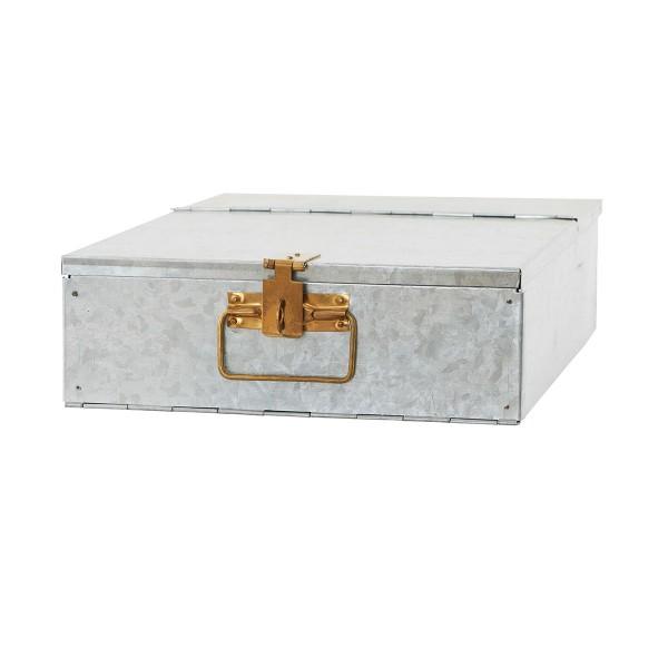 "House Doctor Aufbewahrungsbox ""Bank"" (Silber)"