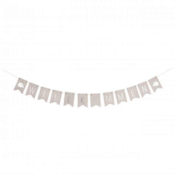 """Girlande """"Willkommen"""" - ca. 150 cm lang von räder Design"""