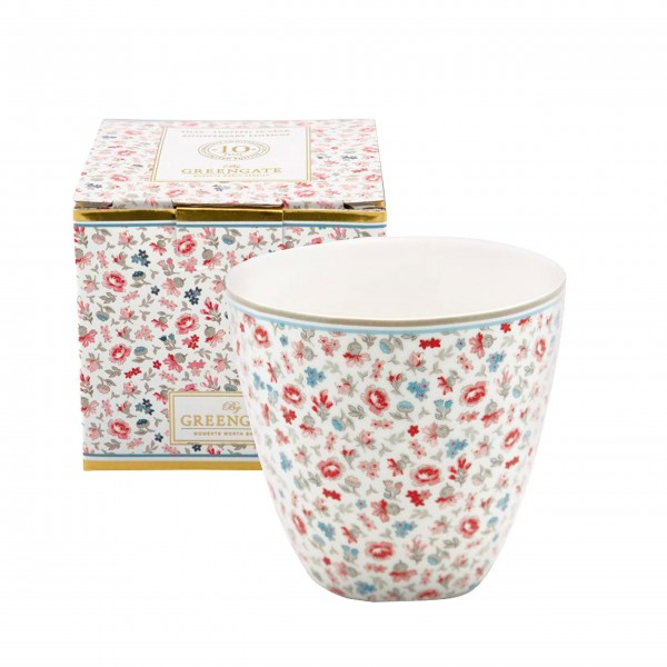 "GreenGate Latte Cup ""Tilly"" (White) + Giftbox"