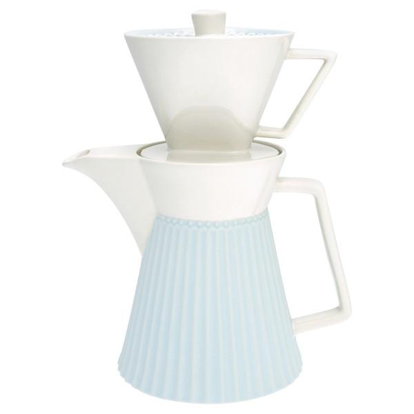 """GreenGate Kaffeekanne mit Filteraufsatz """"Alice"""" (Pale Blue)"""