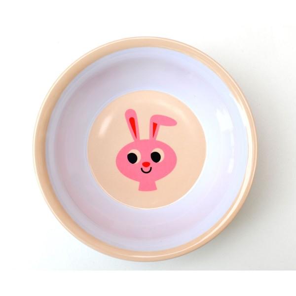 Melaminschüssel mit rosanem Häschen von OMM design