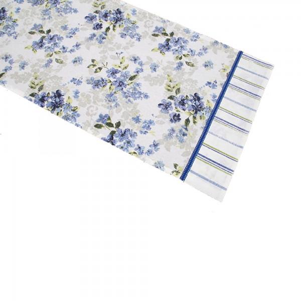 "Country Home Style Läufer ""Iris"" (blau/weiß) 40x150cm"