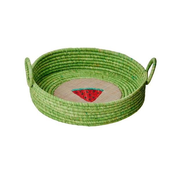 "Rice - Flacher Korb mit Henkel ""Fruits"" (Green)"