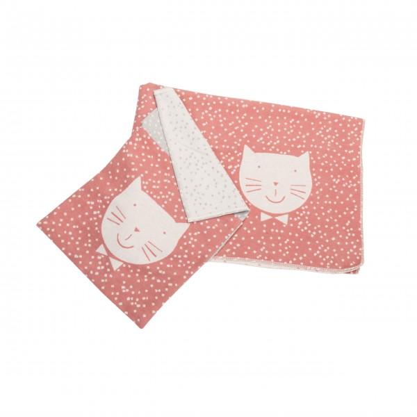 Kuschlige Kinderdecke für kleine Katzen-Fans