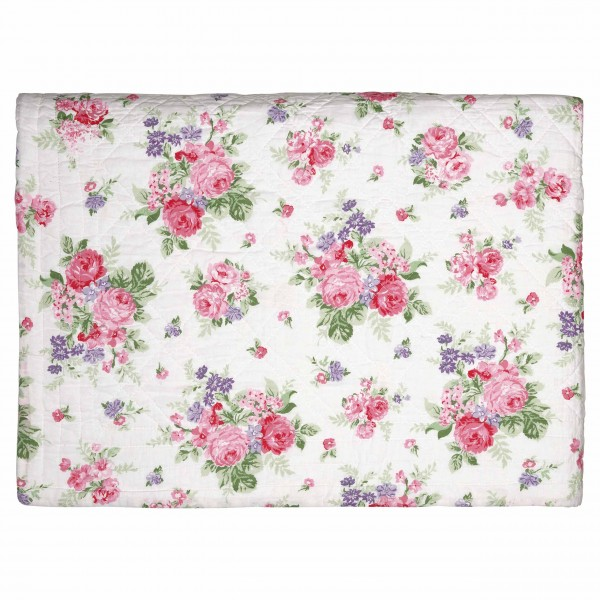 "GreenGate Quilt ""Rose"" (White) 250x260cm"