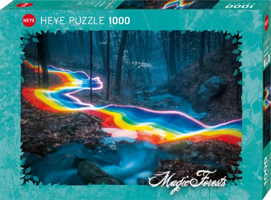 Puzzle Rainbow Road MAGIC FORESTS Standard 1000 Pieces