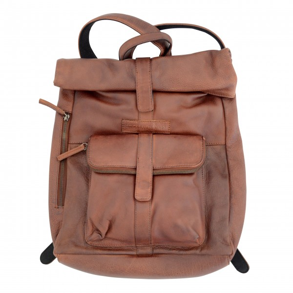 "Sticks and Stones ""Messenger Backpack"" (Mustang Brown)"