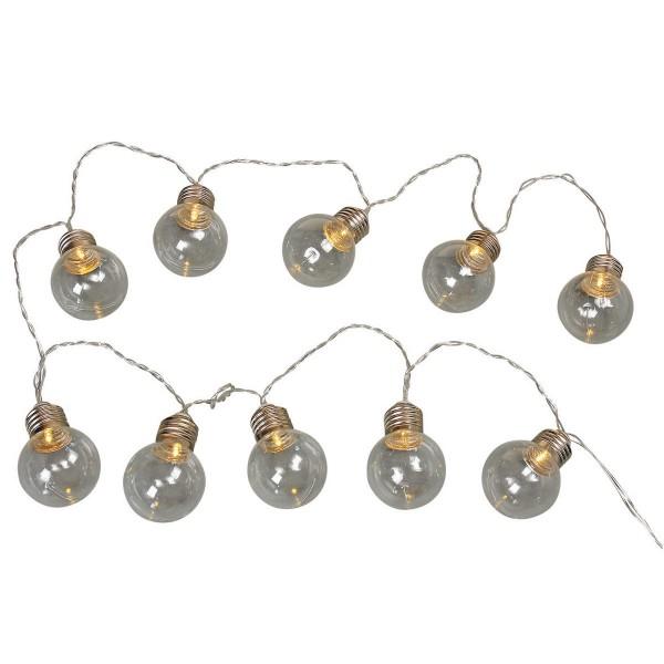 Coole Lichterkette mit 10 Fassungen für Glühbirnen
