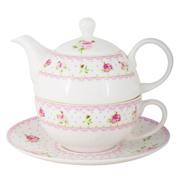 Für Genießer: Teetasse und -kanne im Set