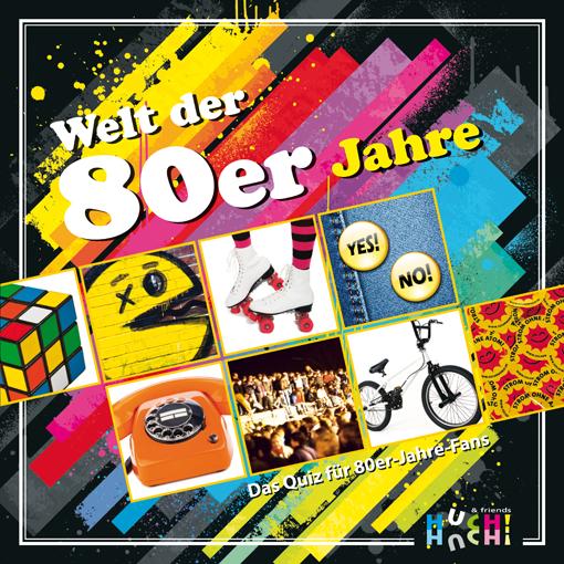 """Gesellschaftspiel """"Welt der 80er"""" von HUCH!"""