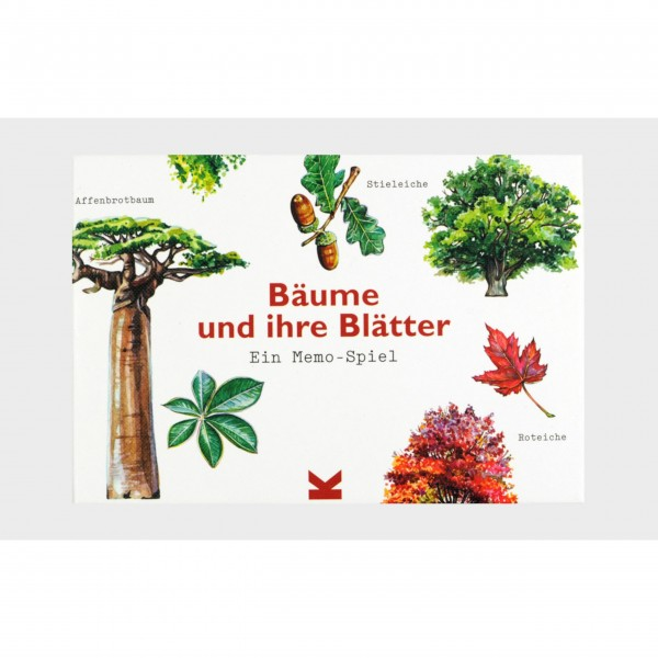 """Laurence King Memo-Spiel """"Bäume und ihre Blätter"""""""