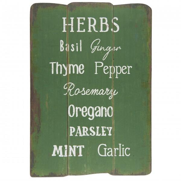 """Ib Laursen Holzschild """"Herbs"""""""