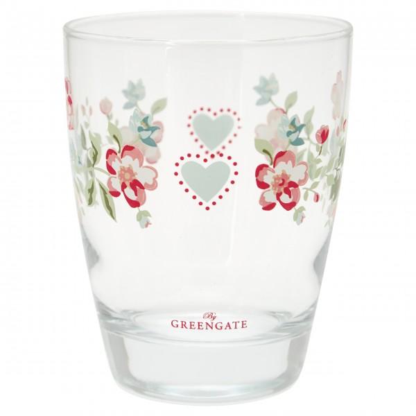 """GreenGate Wasserglas """"Sonia"""" (White)"""
