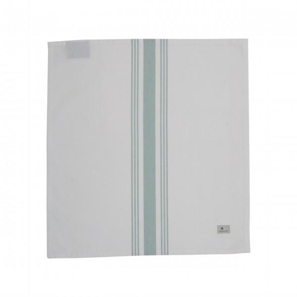 Lexington gestreifte Stoffserviette 50x50cm (Weiß / Grün)