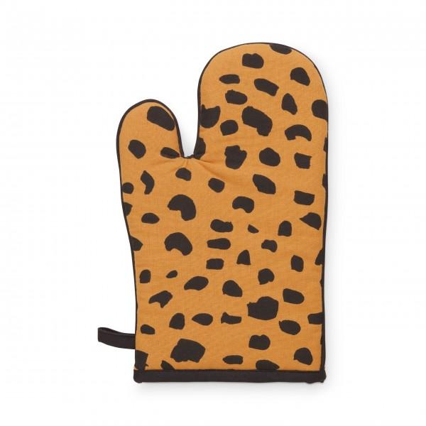 """FABIENNE CHAPOT Ofenhandschuhe """"Cheetah-Gepard"""" (Braun/Schwarz)"""