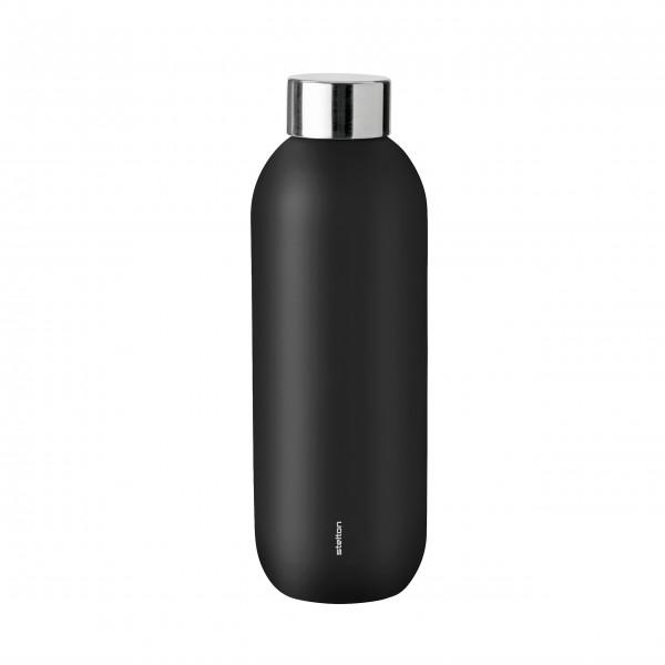 "Stelton Trinkflasche ""Keep Cool"" - 600 ml (Black)"