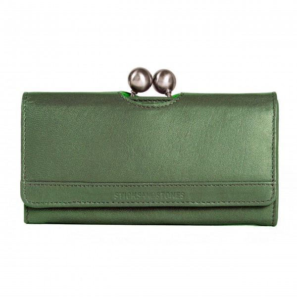 Sticks and Stones Berlin Wallet Washed in Cactus Green