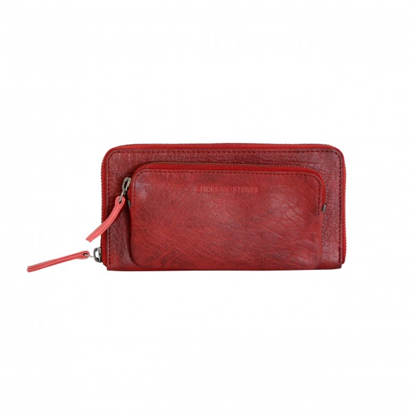 "Sticks and Stones Portemonnaie ""California Wallet Washed "" (Cherry Red)"