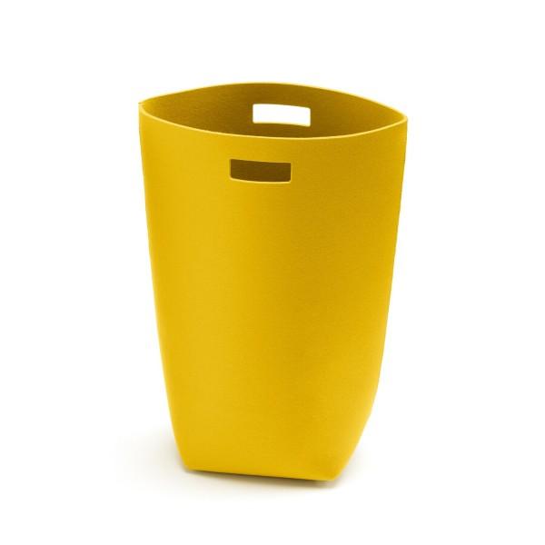 Filz-Wäschekorb - 35x27x69 cm (Gelb/Curry) von HEY-SIGN