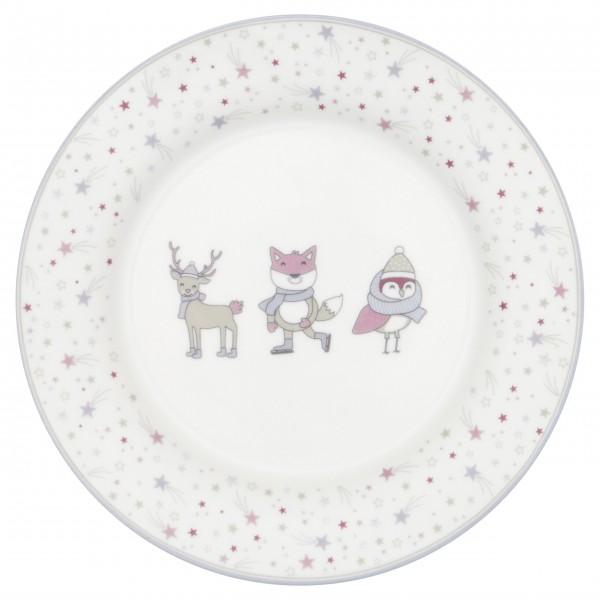 """Von dem GreenGate Kinder-Teller """"Forrest"""" (Lavender) schmecken Plätzchen und Lebkuchen noch viel besser!"""