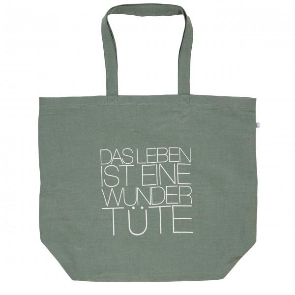 """Einkaufstasche """"Das Leben ist eine Wundertüte"""" grün von räder Design"""
