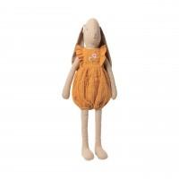 """Maileg Hase Mädchen """"Jumpsuit"""" - 55 cm (Orange)"""