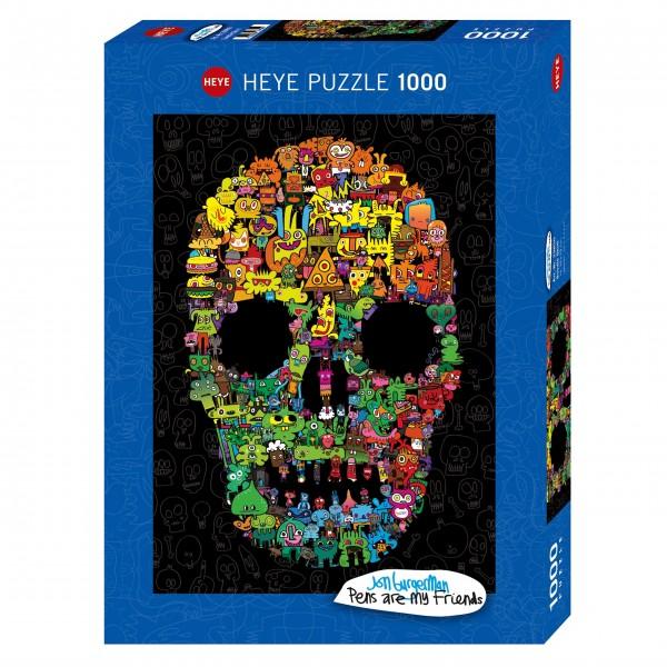 """Puzzle """"Doodle Skull"""" von HEYE"""