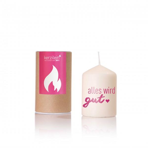 Alles wird gut: Kerze von Kerzilein